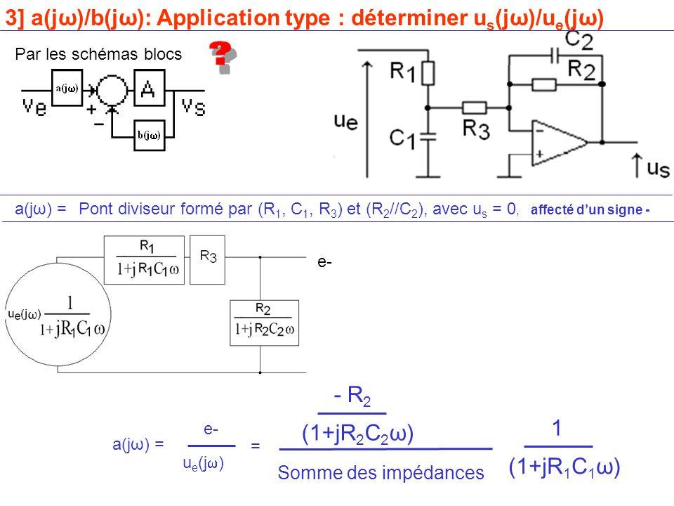 3] a(jω)/b(jω): Application type : déterminer us(jω)/ue(jω)